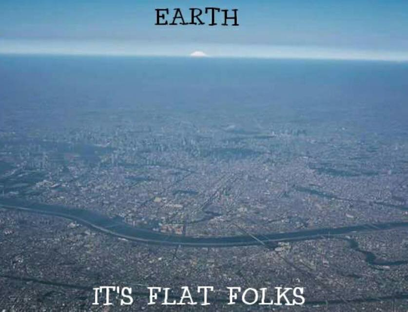 The Earth is flat aparently