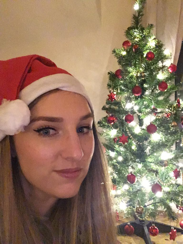 Kat bringing the Christmas