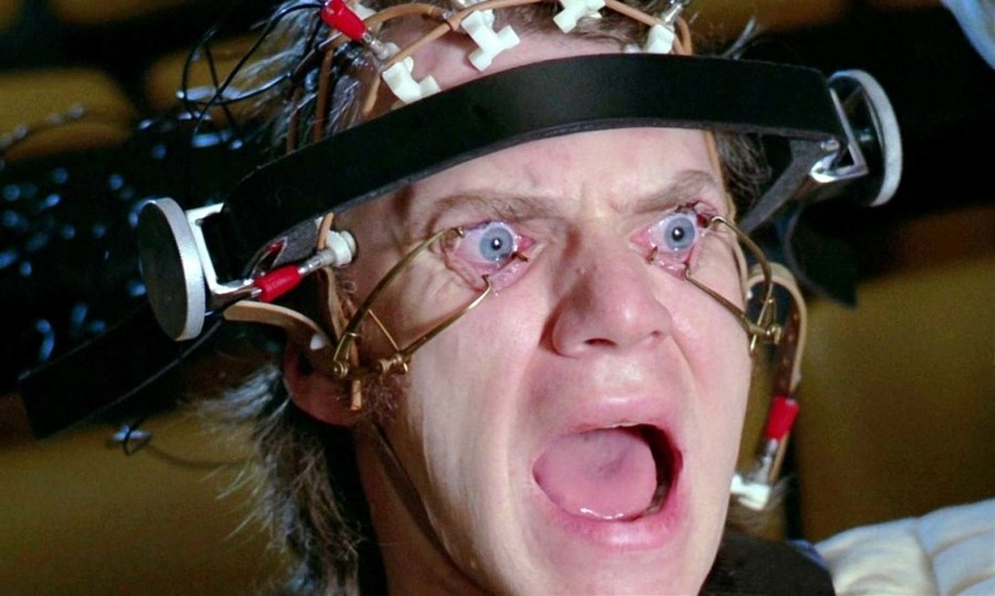 Clockwork orange eye bants