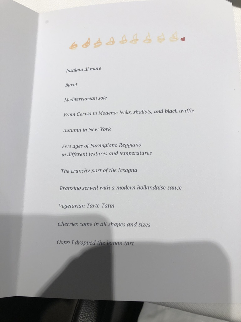 The Menu from Osteria Francescana