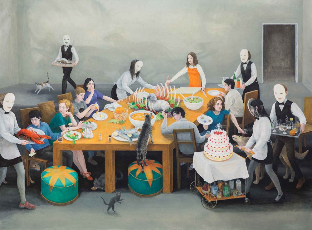 Feast, 170x230cm, Oil on Canvas