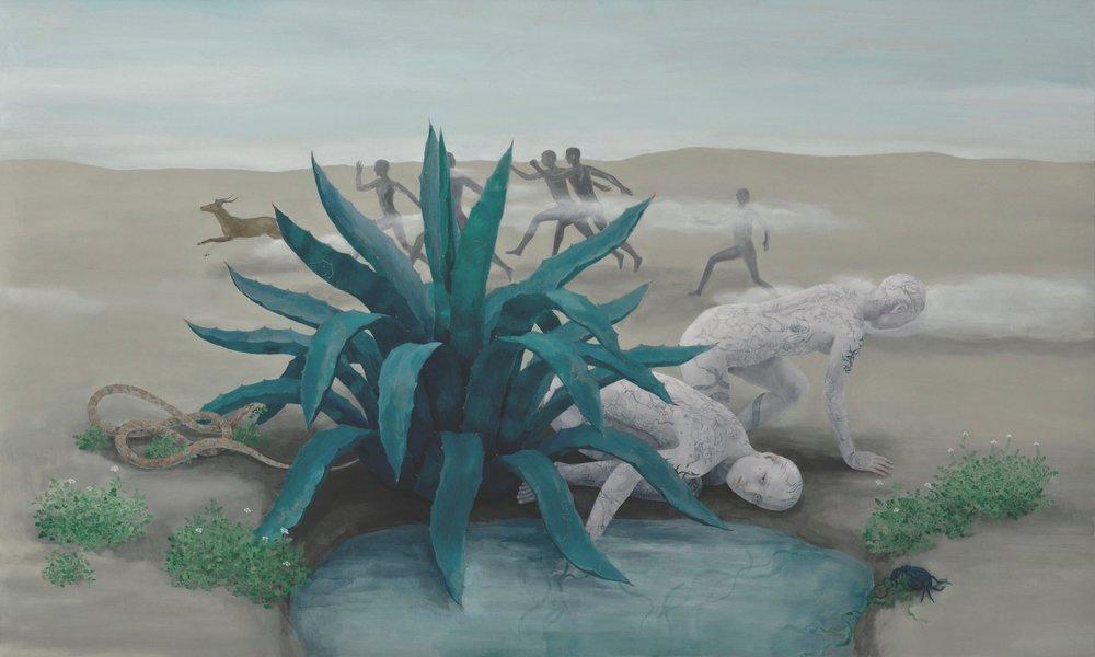 Oil on canvas 123x205 cm