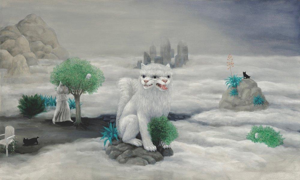 Oil on canvas 123x 205 cm