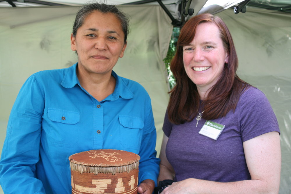 Maliseet artist Gina Brooks and the Abbe's Director of Collections & Interpretation, Julia Clark