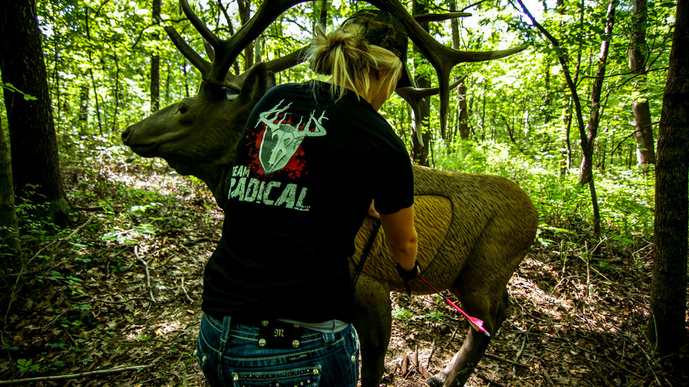 Jennifer at a local bow shoot