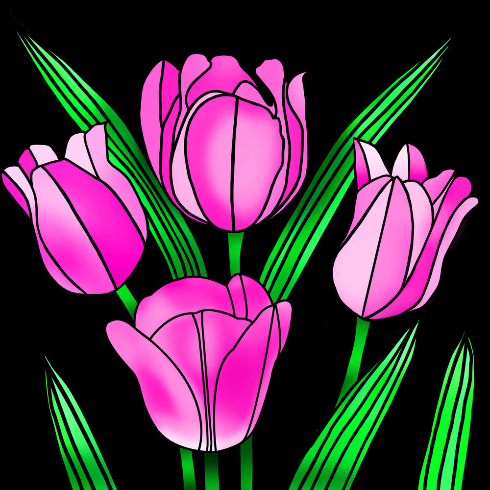 BLUSHING TULIPS – Design Ref. 2599