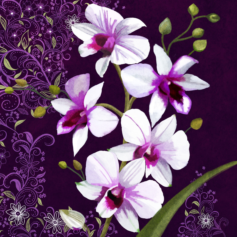 VIOLET ORCHID WORLD – Design Ref. 2339