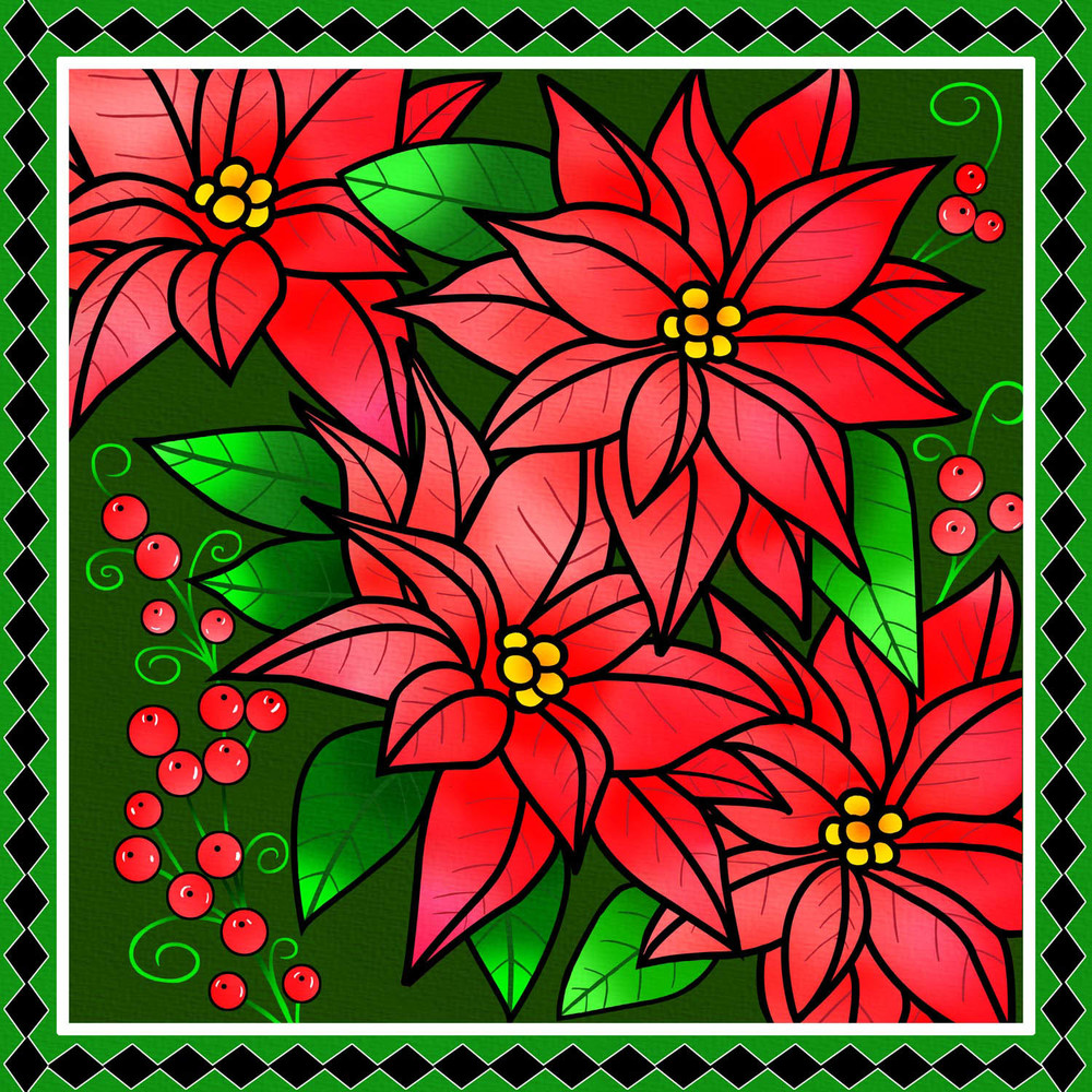 POINSETTIA DISPLAY – Design Ref. 2628