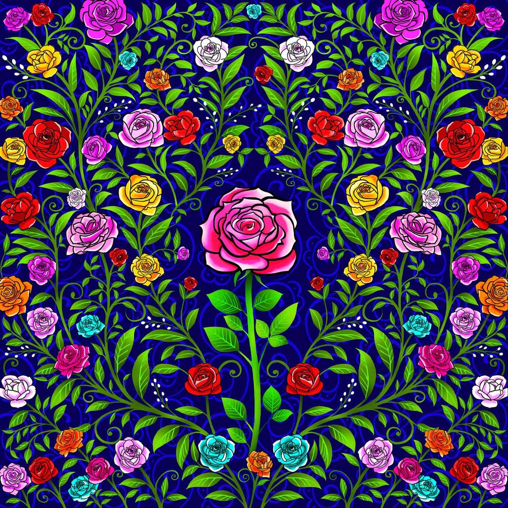 ROSE IN THE CENTRE – Design Ref. 2563