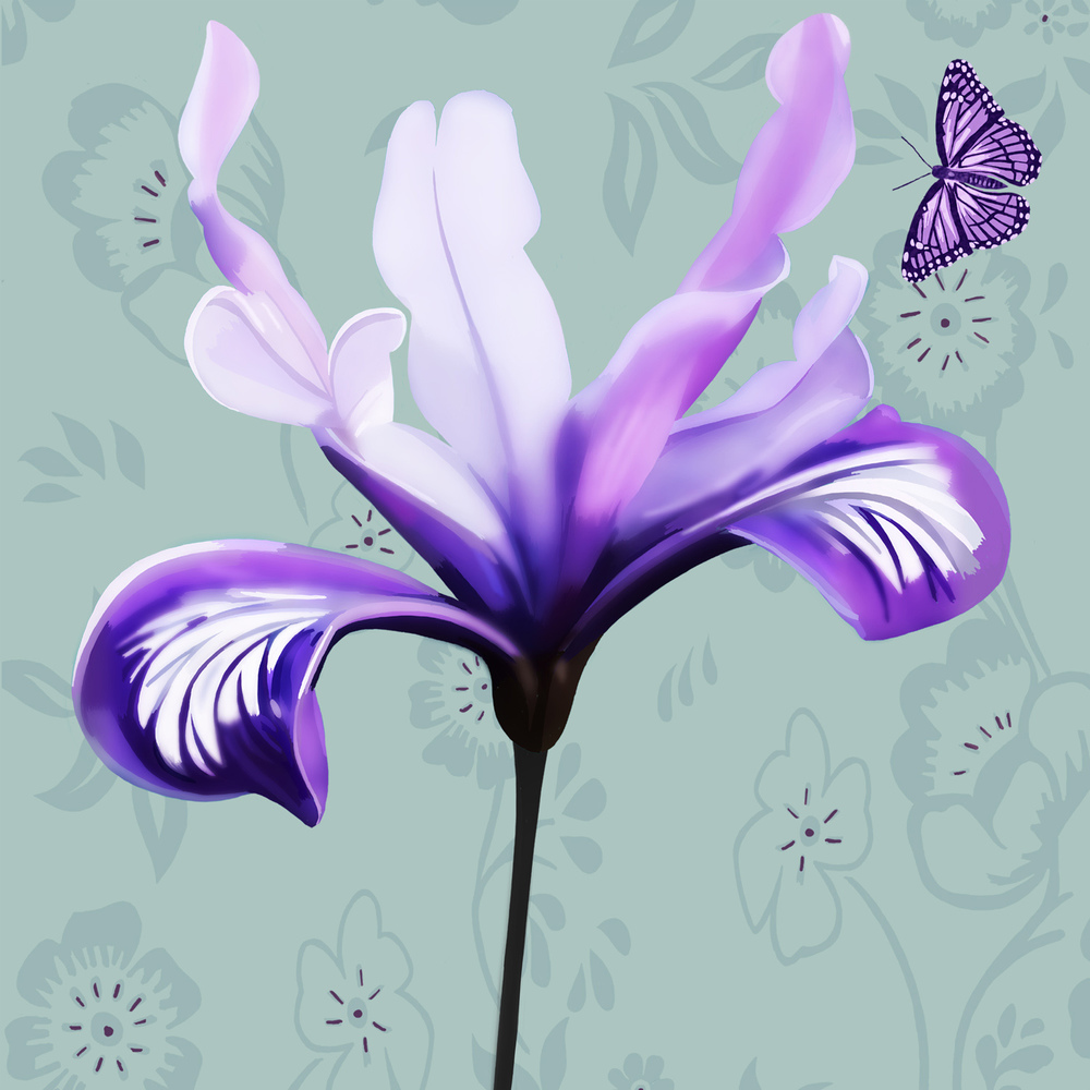 PURPLE LILY – Design Ref. 2164