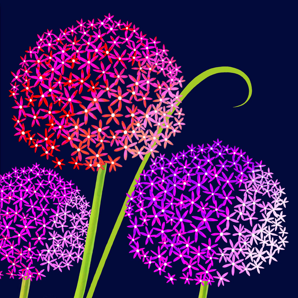 PURPLE ECHINOPS – Design Ref. 2378