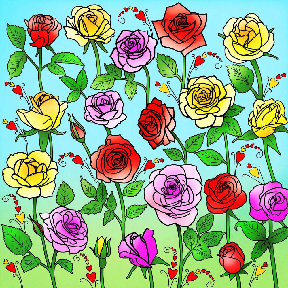 COLOURFUL ROSES – Design Ref. 2655