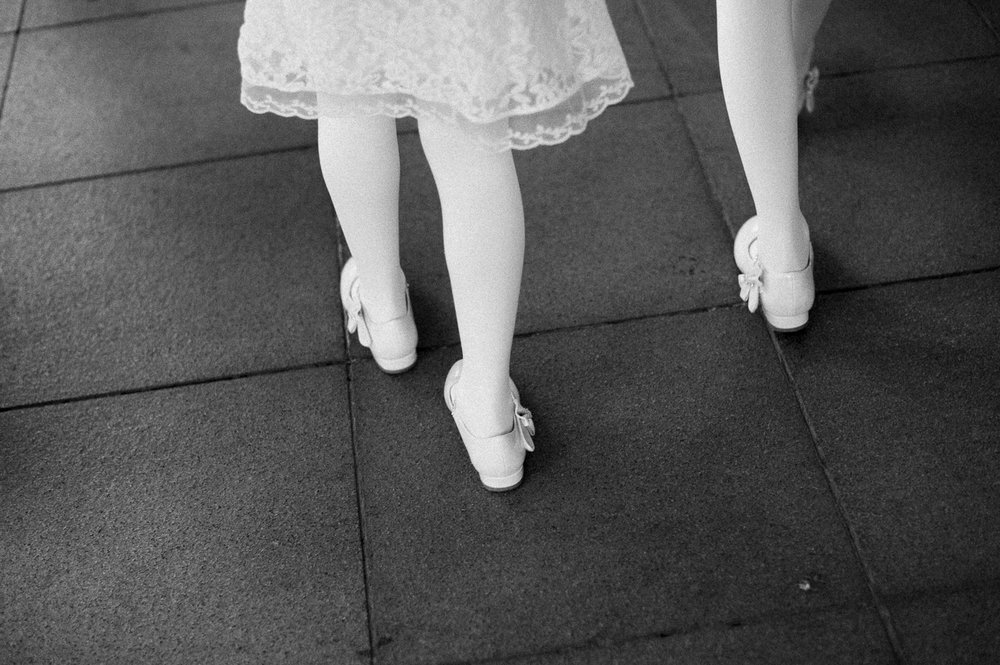 walking flower girls