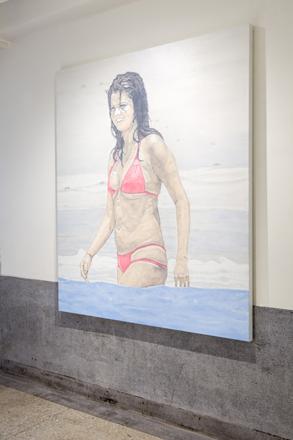 On the beach (Selena Gomez) , 2017,  175.5 x 150 cm, Oil on canvas