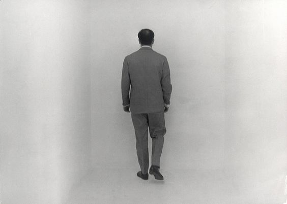 Yves Klein in the Void Room, Charles Wilp, 1961