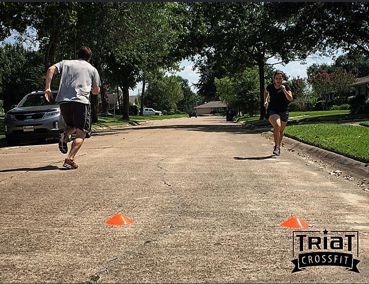TBT to running sprints in the neighborhood