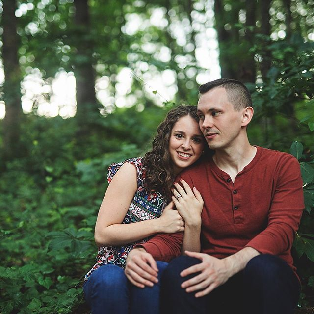 Moody engagement session after summer rain showers 🌧