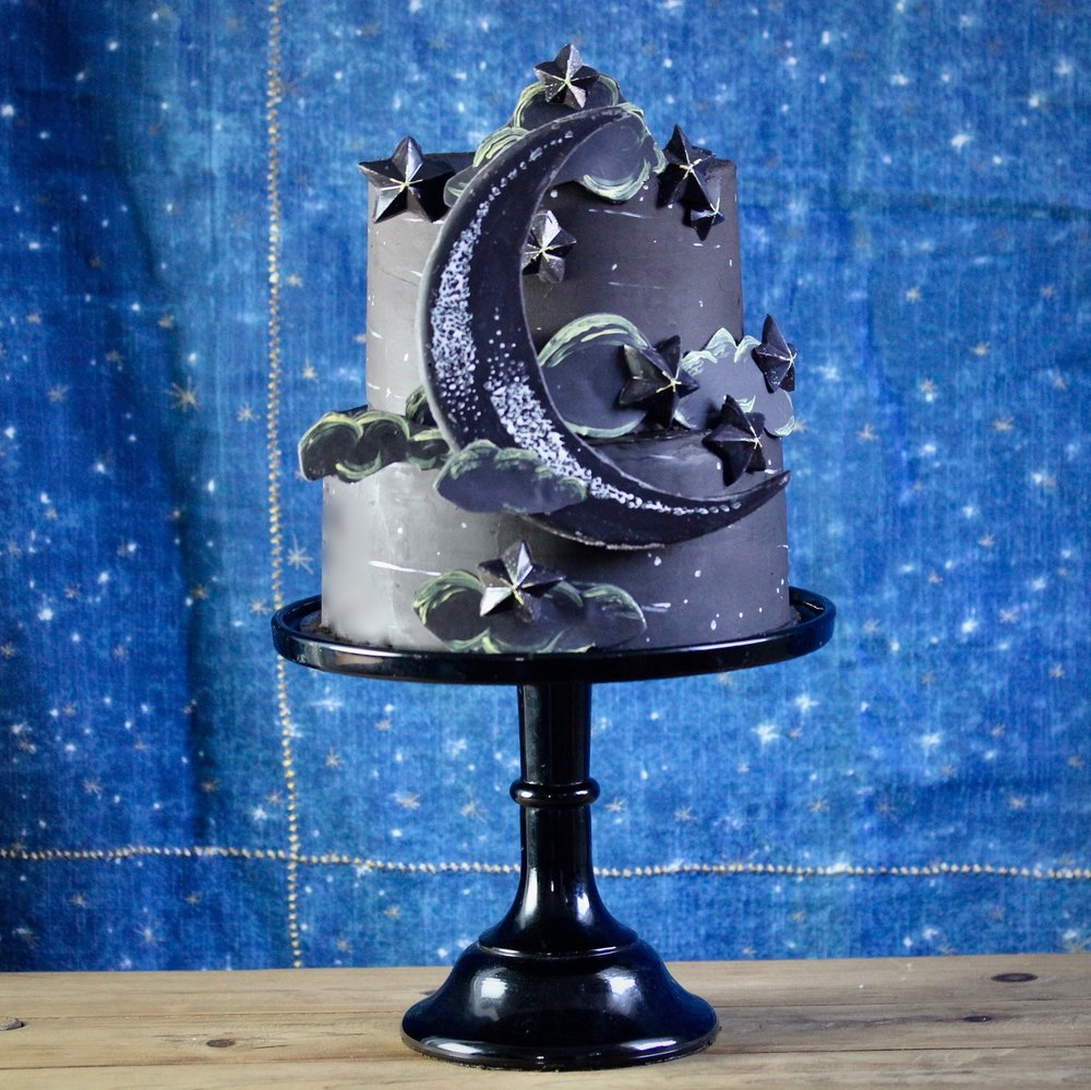 the night sky, but cake