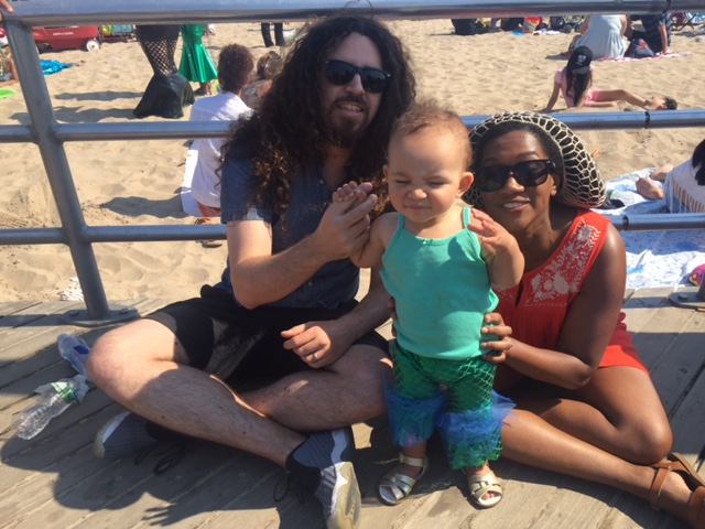 My husband and I took our daughter to the Mermaid Parade in Brooklyn. Farewell, Brooklyn!