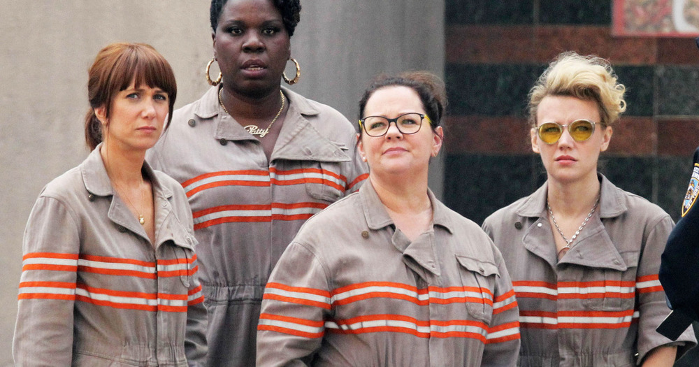 The new all female Ghostbusters cast. Lol?