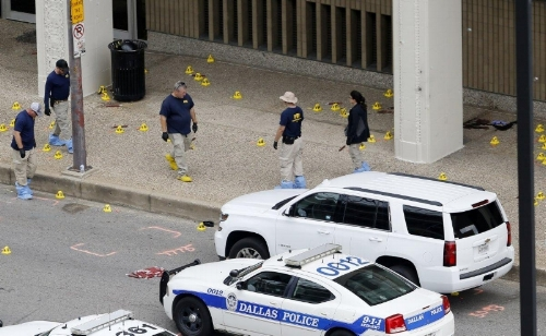 Evidence markers during the crime scene investigation