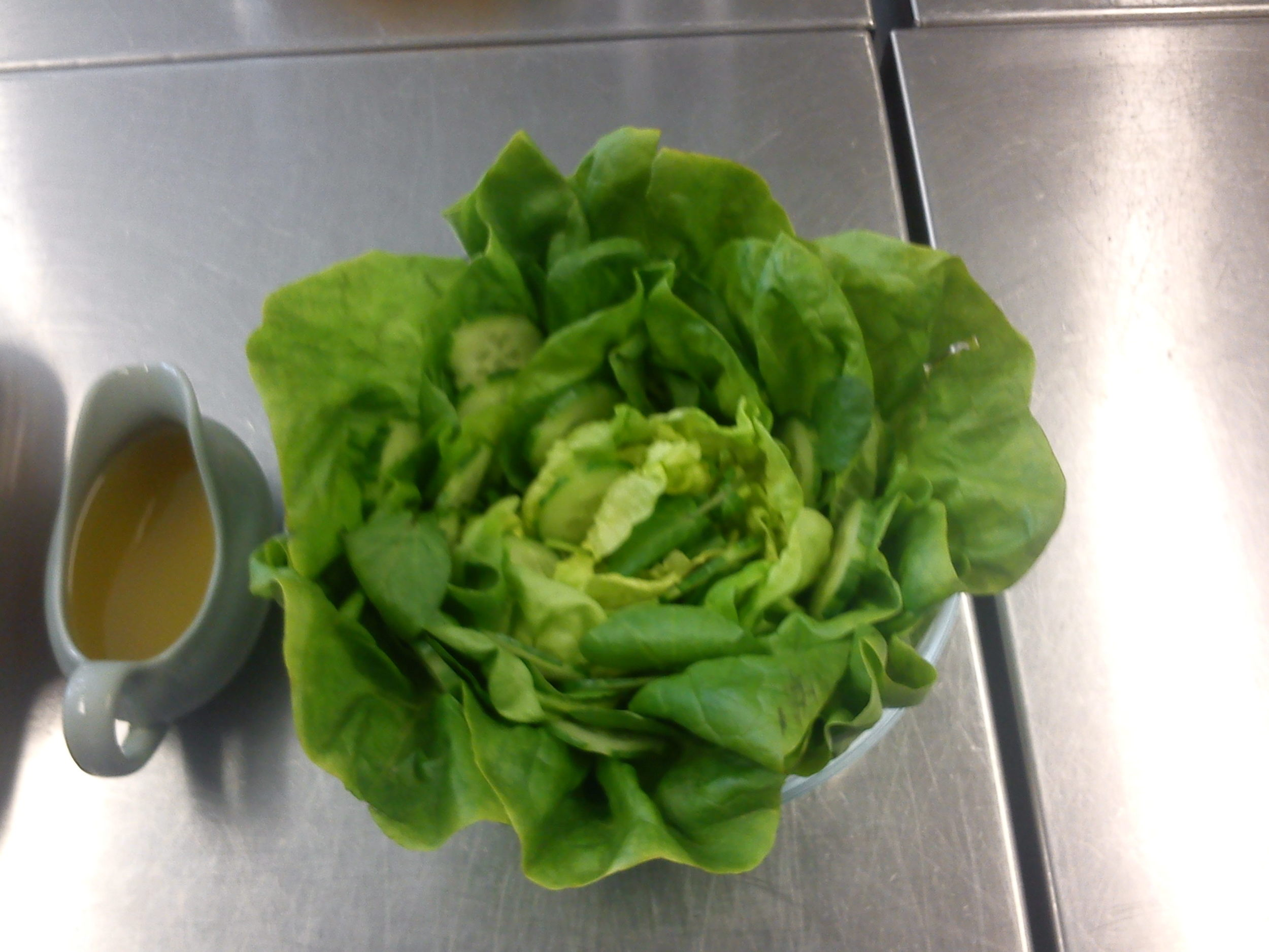 Have you ever seen a salad that looked more like a lettuce? I think not.