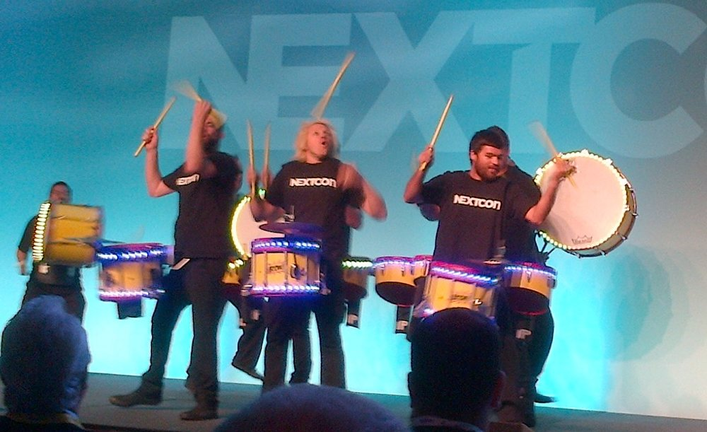 Now, THIS is how to kick off a big event like this. Yes, you might say Nextiva marches to the beat of a different drummer, and that's my take on this.