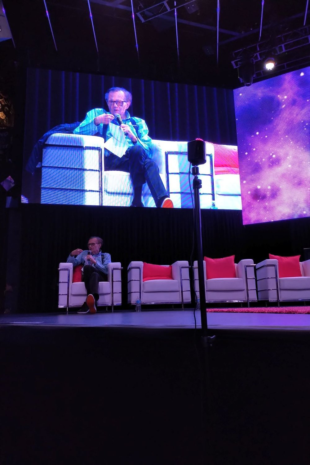 "Old school journalism never gets old. Larry King's opening comment - ""I'm the oldest guy here in the room"". Yup, but nobody  minded, and in the end, he asked THE right question that made all of this real for the audience - watch for that in my next post!"