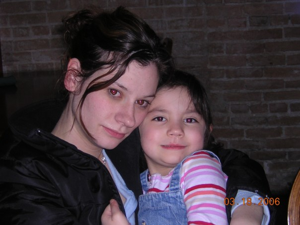 Jenny and her daughter, Emily. This photo was taken at the restaurant the day I saw her strung out. A day she doesn't even remember. (Source: Jonathon M. Seidl