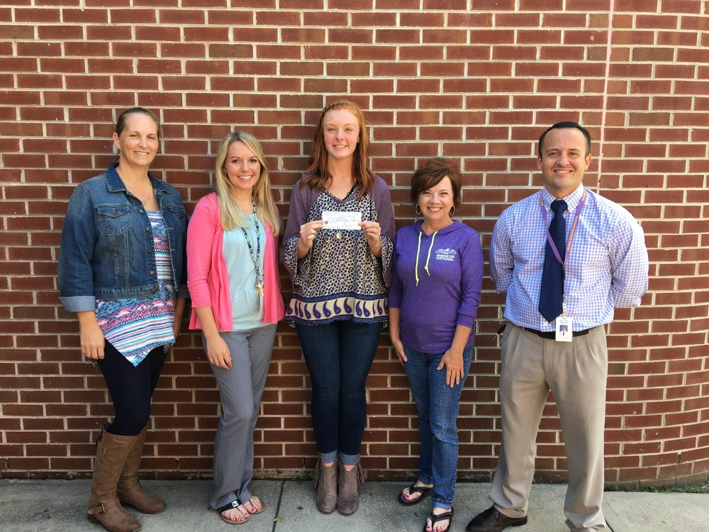 L to R: Jennifer, Mrs. Sweet, the guidance counselor , Madison, me, and Mr. Nivens, the principal.