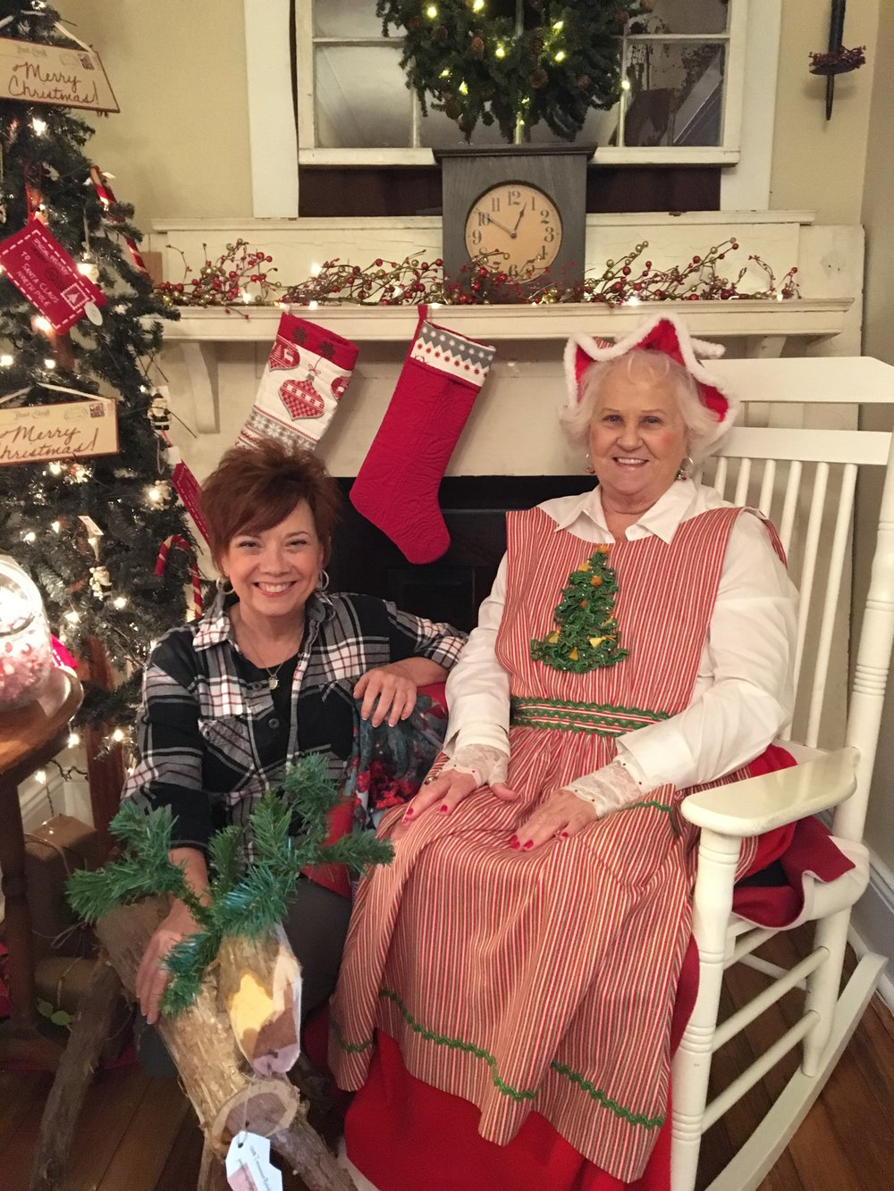 Me and Mrs. Claus at The Front Porch!