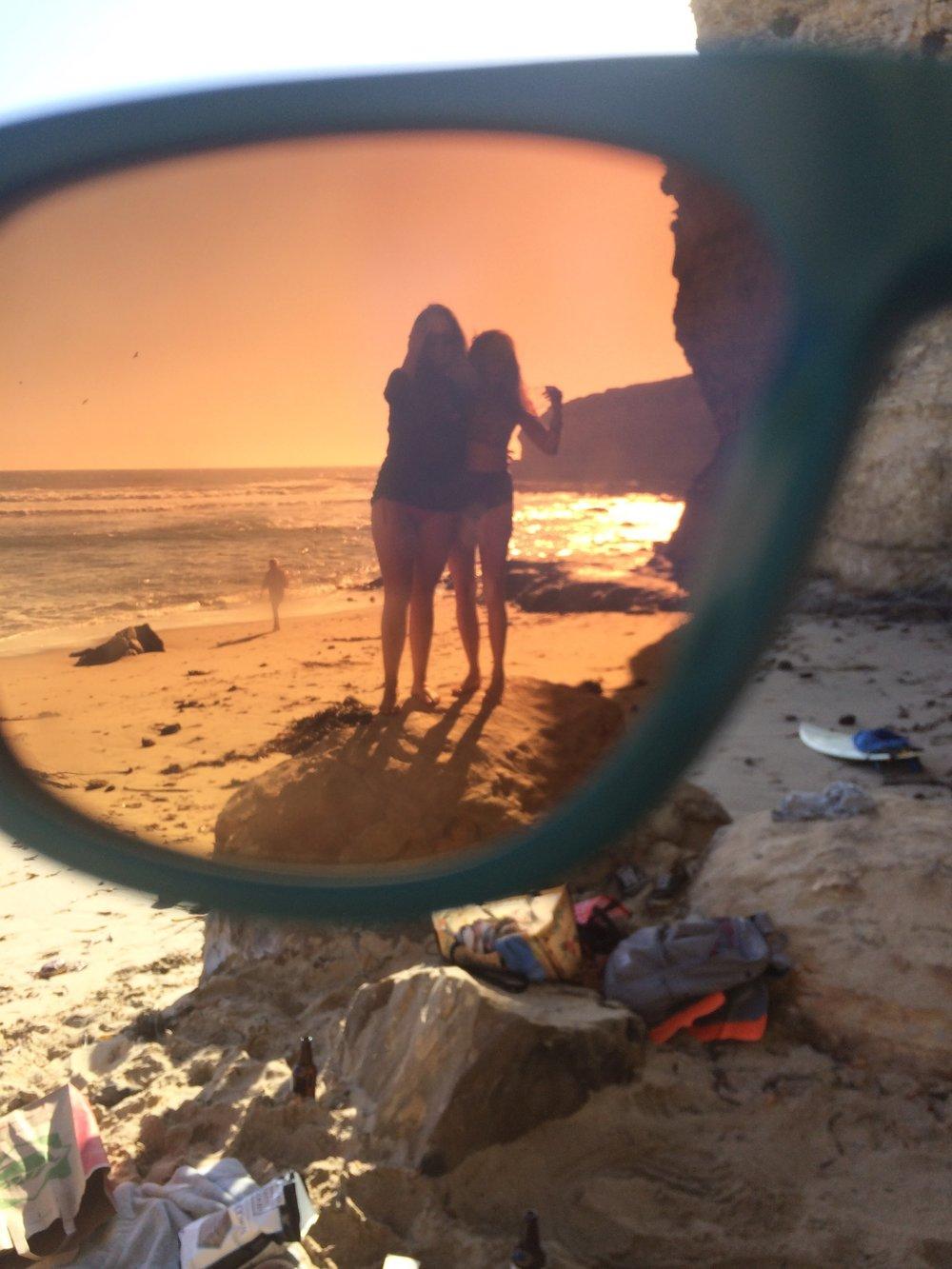 Sena & me through sunglasses, 2014
