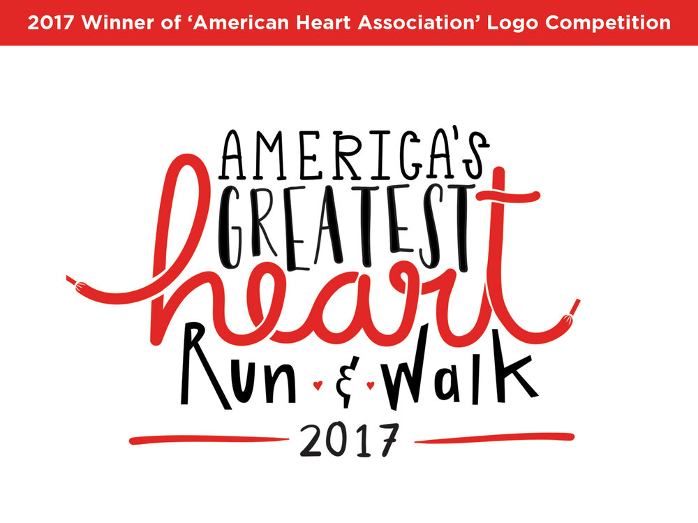 AMERICA'S GREATEST HEART RUN & WALK 2017   | LOGO DESIGN