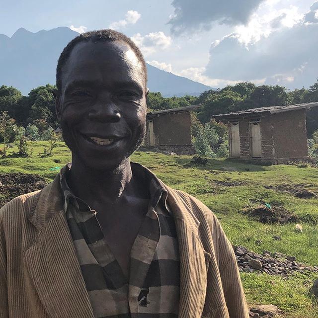 Was lucky enough to spend time with members of the Batwa tribe here in Uganda yesterday, including the fabulously named Safari Monday. —- The Batwa were thrown out of the Mgahinga Forest in 1991, when it was designated a national park in a bid to protect dwindling gorilla numbers. They received no compensation or new land. This new village, built by Volcanoes Safaris in conjunction with the Batwa, goes some way to redressing that. —- There's no dressing it up, Safari and his people live in great poverty and still need to work for local farmers to supplement their own crop growing, their old ways no longer allowed in the forest. But the village has running water, a medical clinic and 18  homes, plus a community centre. The Batwa are now increasingly involved in teaching visitors to this part of Uganda about their former lives as hunter gatherers, with a bigger push by Volcanoes to include them in the conservation conversation. There's still a long way to go, but Safari's optimism was humbling, especially as the Batwa remain on the fringes of society here #uganda #batwa #africa #masonrosegoes #travelgram #travel