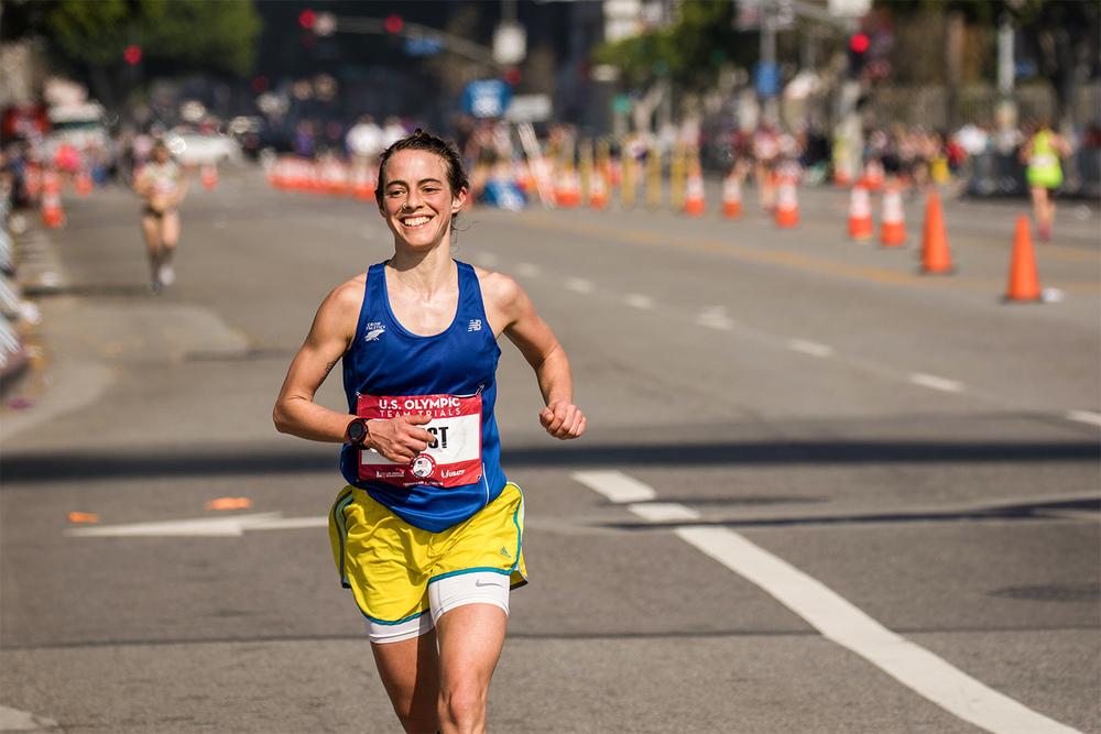Leah Frost, 2016 Olympic Marathon Trials