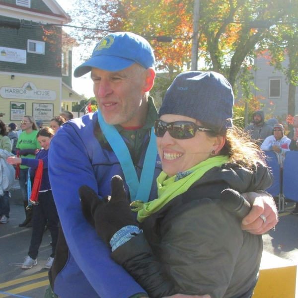 co-race directors gary allen and mary ropp at the mdi marathon