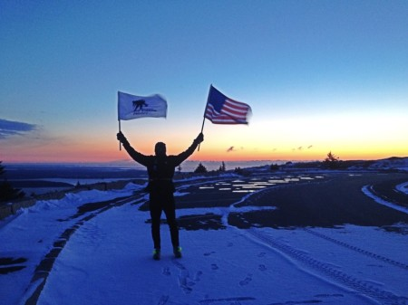 Day 1 - Summit of Cadillac Mountain - January 24, 2014