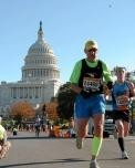 Gary competing in the Marine Corp Marathon