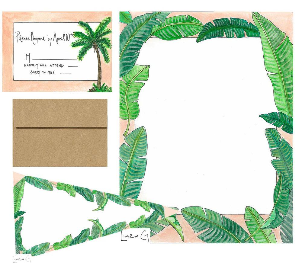 Palms Wedding Invitation Package