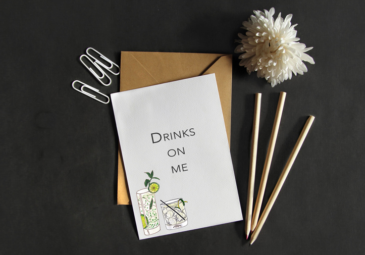 Custom cocktail cards