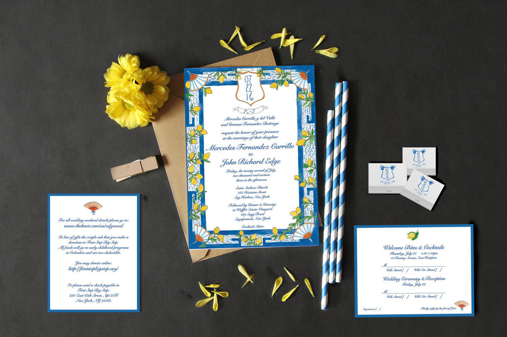 Citrus Custom Stationery by Lara Glaister