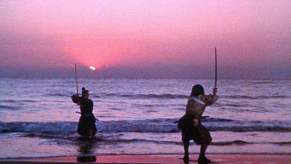 """Duel at Ganryu Isalnd"" where Miyamoto Musashi fights Kojiro Sasaki, who wields a longer blade."