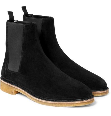 Saint Laurent Suede Chelsea Boots -  £535.00