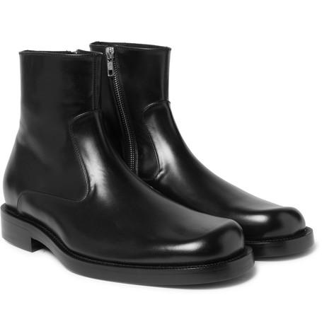 Balenciaga Leather Zip-up Boots -  £595.00
