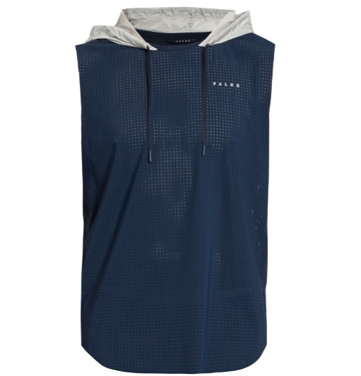 FALKE Stretch-mesh running hooded tank top -  £90.00