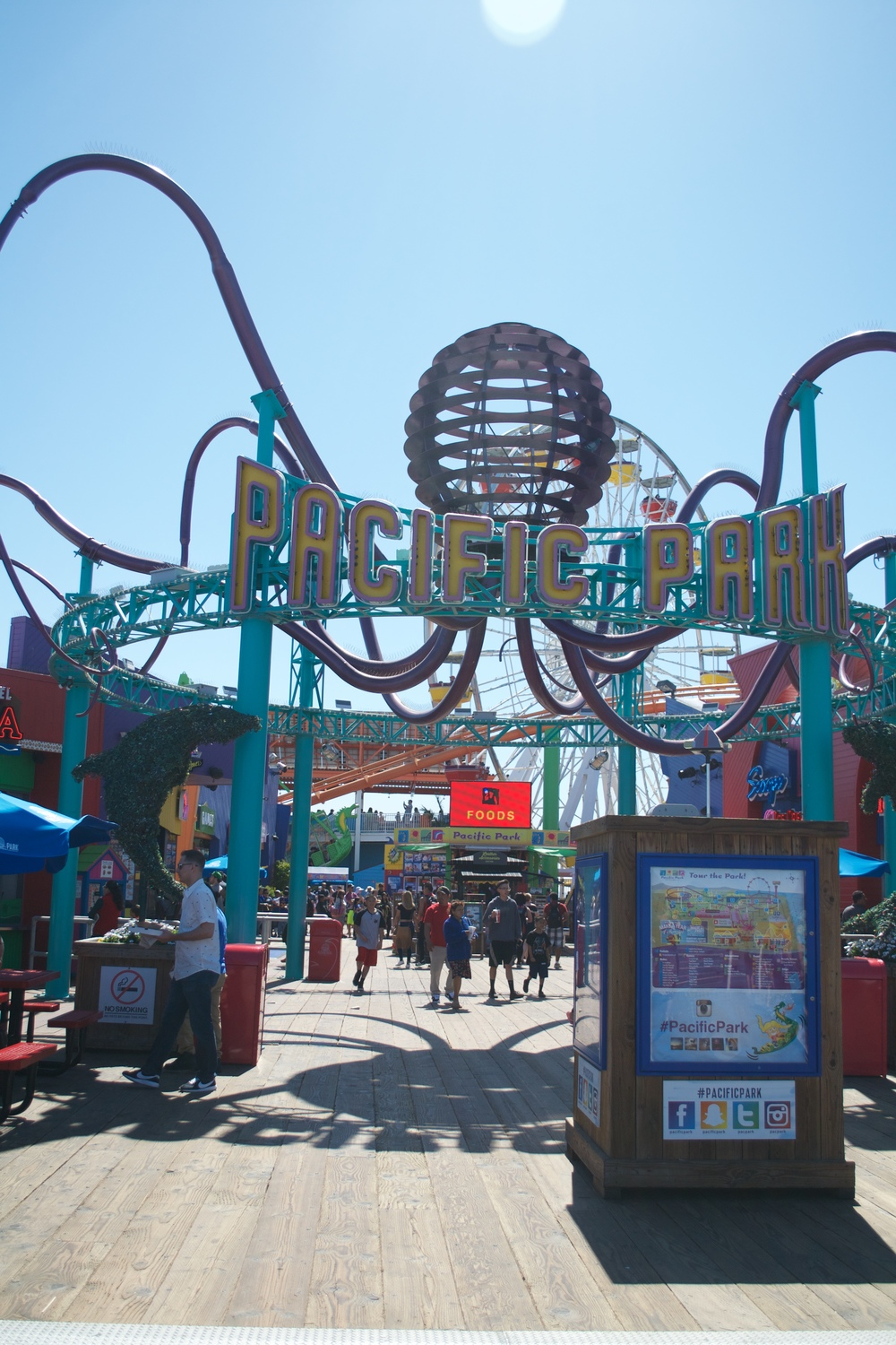 Santa Monica Pier, which #funfact is the end of the Route 66!