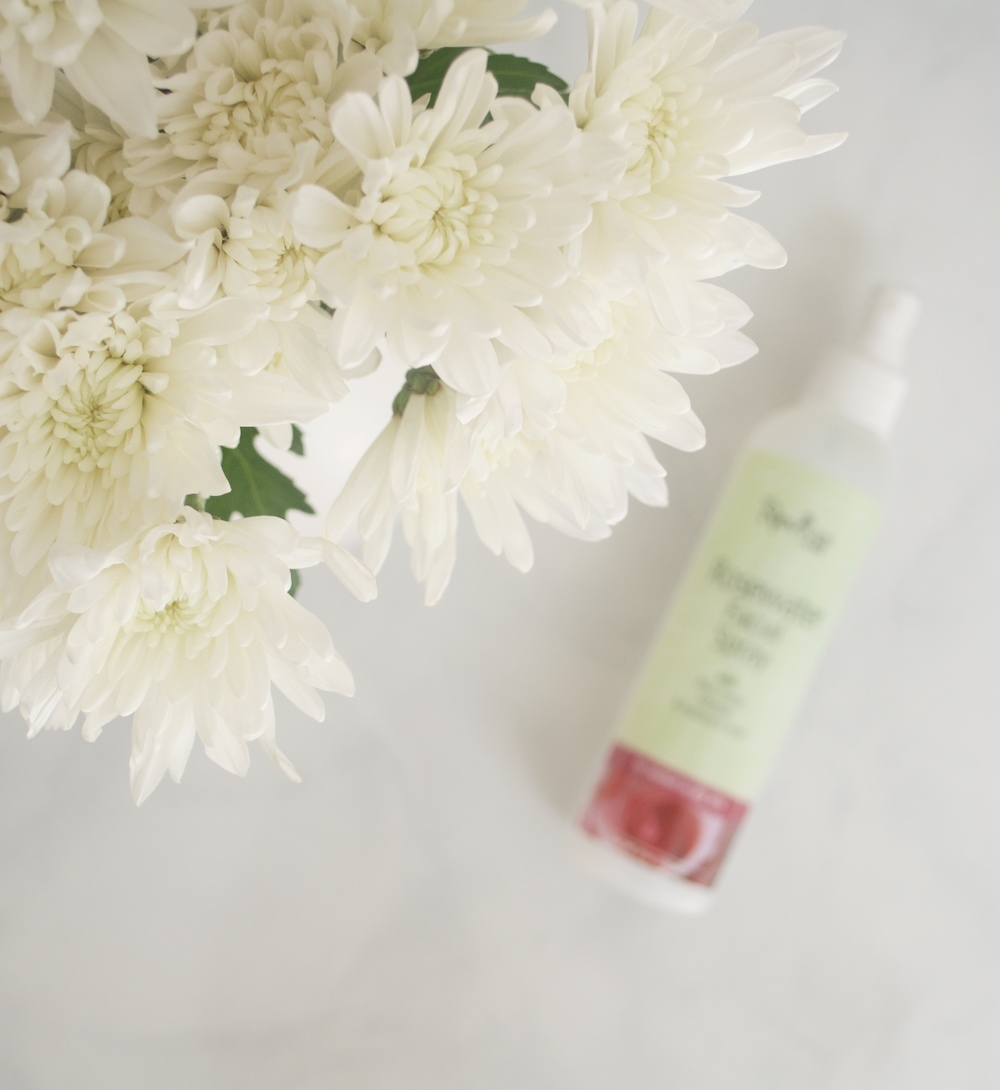 fresh flowers, rose water spray