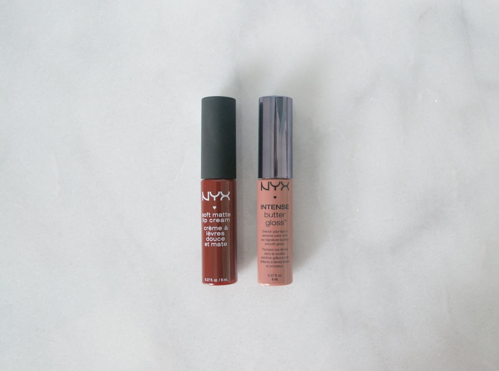 NYX Intense Butter Gloss  and  NYX Soft Matte Lip Cream