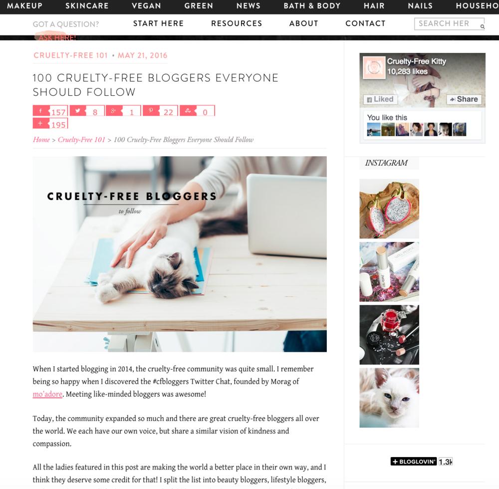 cruelty free blogger