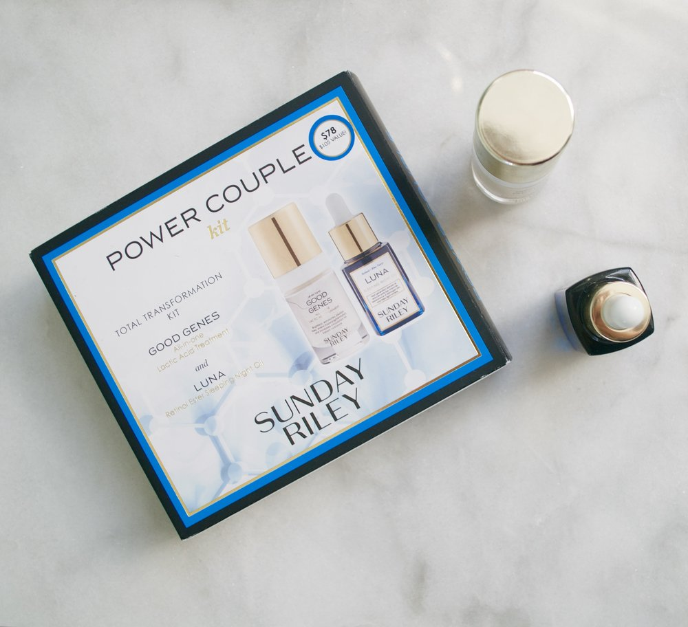 Sunday Riley Power Couple Duo, Good Genes Serum, Luna Facial Oil